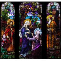 """Visitation from """" Stained Glass Inc."""" (over 50 diff  visitation designs available !) Many others also. Wow"""