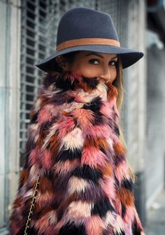 MULTI COLORED FAUX FUR COATS - THE NEXT BIG THING | People & Styles - Fashion, style and what to wear now
