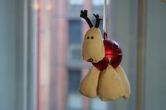 Craft #42 - Reindeer Bell including tutorial - one is for sale to raise funds for Macmillan Cancer Support