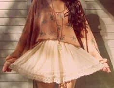 hipster fashion | Tumblr. love the sweater tucked into the skirt.