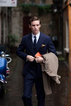 actor Eddie Redmayne on the set of My Week with Marilyn (2011), costume designer Martin Pakledinaz