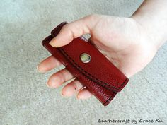 handmade hand stitched leather key holder