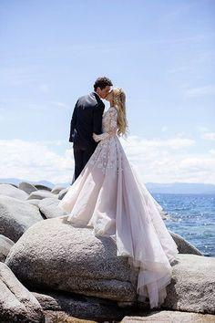 Gorgeous long sleeve Haley Paige wedding dress!