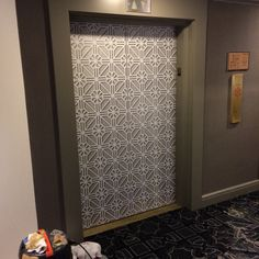 Brassell Design Consultants newest elevator door transformation. Resurfacing with imaged film. Ask us for more information...