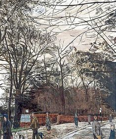 'Holland Walk', oil paint on canvas by Carel Victor Morlais Weight (c.1946).