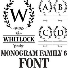 Welcome to the Silhouette Design Store, your source for craft machine cut files, fonts, SVGs, and other digital content for use with the Silhouette CAMEO® and other electronic cutting machines. Monogram Fonts, Monogram Letters, Vinyl Monogram, Monograms, Silhouette Design, Silhouette Studio, Silhouette Files, Handwritten Fonts, Script Fonts