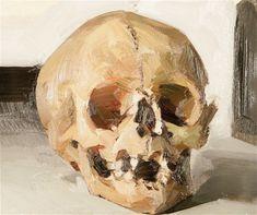 Skull, 2005 Oil on paper 18.5 x 22 cm