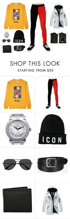 """""""Alpha Male Icon"""" by edith-a-giles ❤ liked on Polyvore featuring Billionaire Boys Club, Corum, Dsquared2, EyeBuyDirect.com, Uniqlo, Dopp, Ann Demeulemeester, men's fashion and menswear"""