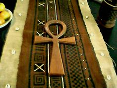 Wood Ankh Wall Hanging Home Decor by AshanteCulture on Etsy