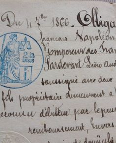 French letter 1866...