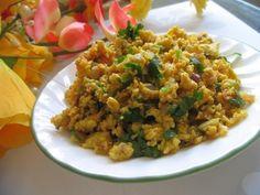 Egg Bhurji (Scrambled Egg Masala) Recipe - Indian Breakfast, Egg, and Low Carb Dish - Fauzia's Pakistani Recipes - The Extraordinary Taste Of Pakistan