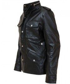 Mens Leather Bomber Jacket by TheLeatherJacketShop.com