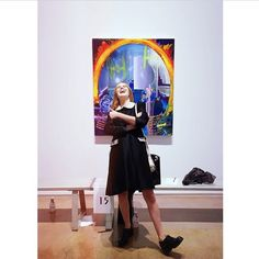Maniacally laughing in an art gallery becAuse I CaN. @maddiedeutch. Also yes, absolutely, no doubt, third photo from that night (because I like outfit, I'm a girl, instagram is embarrassing, I suck, blahblah, things like that).