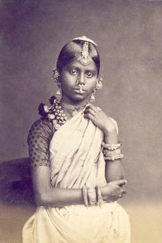 Tamil Girl. Photograph by Charles T Scowen & Co. ca. 1880 || via Images of Ceylon