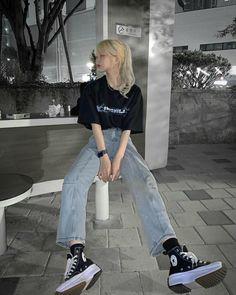 Korean Girl Fashion, Korean Street Fashion, Ulzzang Fashion, Tomboy Fashion, Teen Fashion Outfits, Outfits For Teens, Look Fashion, Streetwear Fashion, Cute Fashion