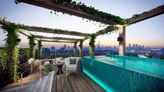 Yarra House condominium, penthouse pool, South Yarra, Victoria, Australia
