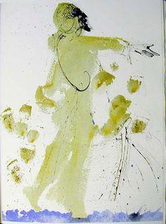 """artist-dali: """"Iesus super mare ambulans (Matthew 14:26) via Salvador Dali """""""