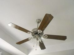 How to paint a ceiling fan.
