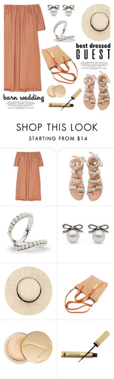 """Best Dressed Guest: Barn Weddings"" by littlehjewelry ❤ liked on Polyvore featuring ADAM, Elina Linardaki, Jane Iredale, Dr.Hauschka, contestentry, pearljewelry, bestdressedguest, barnwedding and littlehjewelry"