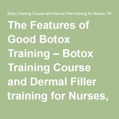 12 Best Botox Training images in 2018 | Facial aesthetics, Dermal