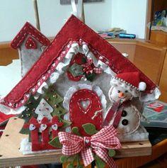 Casetta rossa di Natale -Luisa Valent