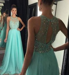 Halter Chiffon Prom Gowns Homecoming Dresses Beads Keyhole Back pst0097 sold by BBDressing. Shop more products from BBDressing on Storenvy, the home of independent small businesses all over the world.