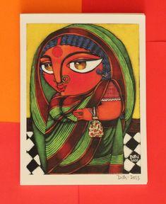 "Lady with Batua - Artist "" Dithi """