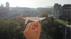 The Ultimate Paper Airplane Glider In Action (+ tutorial) - My Best Ever...