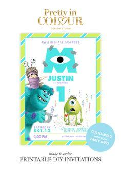 Monsters Inc Boo Birthday Invitation DIY Printable on Etsy 1700