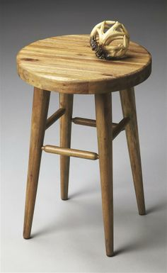 Mountain Lodge Stool •Hand-crafted •Four tapered legs with a rounded butcher block seat •Made from solid acacia wood •Natural wood finish •Made in Vietnam •14 in. W x 14 in. D x 20 ...30lbs $159.00