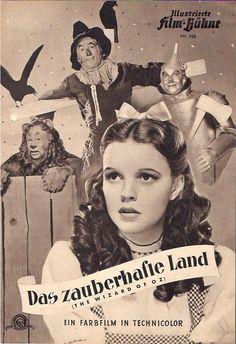 JUDY GARLAND Wizard of OZ German Illustrierte FILM BUHNE rare vintage program