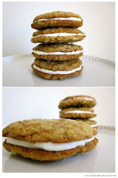 Carrot cake cookie sandwiches   - Everyone. I just got some new shoes and a nice dress from here for CHEAP! Check out the amazing sale. http://www.superspringsales.com
