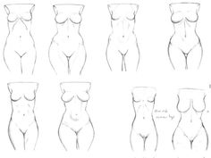 Different kinds of hips. [ #hips #torso #female #uniqueness #characterdesign #body ]