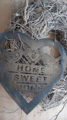 Cottage Charm ~ Blue-Gray ~ Home Sweet Home ~ Heart I Love Heart, With All My Heart, Blue Grey, Blue And White, Country Blue, French Blue, French Style, Heart Art, Dusty Blue