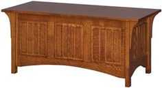 Amish Outlet Store : Deluxe Mission Blanket Chest in Oak