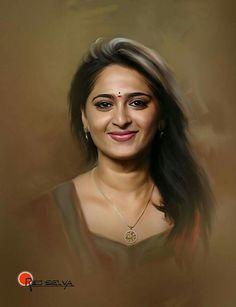Painting face portrait fine art New Ideas Oil Portrait, Digital Portrait, Anime Comics, Art Indien, Digital Art Photography, Indian Art Paintings, Celebrity Drawings, Beauty Full Girl, Most Beautiful Indian Actress