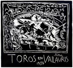 """Pablo Picasso, """"Toros en Vallauris"""", 1954"""