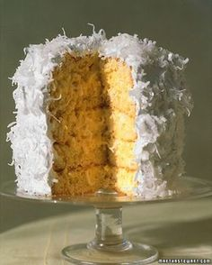 Coconut Layer Cake-Martha Stewart's Favorites This recipe yields a six-layer cake. However, if you prefer the look of five layers, the extra cake layer makes a delicious snack.