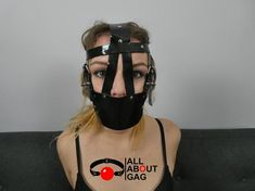 Heavy duty muzzle gag in Black PVC Girl Tied Up, Fetish Fashion, Vegan Friendly, 50 Shades, Face Masks, Red Black, Bench, Fantasy, Lifestyle