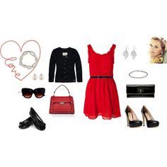 Red dress looks yammi