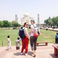 by @mara.mea #mytajmemory #IncredibleIndia #tajmahal Best -companions to check out the Taj Mahal - diaper bag {stardust} & {new moon}  Both Styles are back in stock and available online: www.maramea.com #diaperbag #stardust #blue #newmoon #dipdye #travelling #india #tajmahal #backpack #instadaily