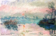 Sunset at Lavacourt by Claude Oscar Monet (France)
