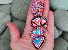 Love Circus / Magnet Set 4 stones / Sandi Pike by LoveFromCapeCod, $42.00