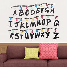 Stickers muraux: Stranger Things alphabet #StrangerThings #tv #deco #WebStickersMuraux