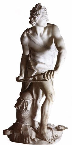 Gianlorenzo Bernini, David  1623/ 1624  Carrara marble, height 170 cm  Galleria Borghese, Rome