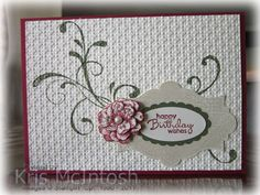 SU! Everything Eleanor and Petite Pairs (sentiment) stamp sets; Riding Hook Red, Crumb Cake and Always Artichoke ink; Riding Hook Red, Very Vanilla and Always Artichoke card stock - Kris McIntosh