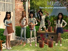 Sims2City: Only for girl:) Five kid's outfits