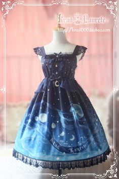 Krad Lanrete Lost in Sea Blue JSK – Size M, Short « Lace Market: Lolita Fashion Sales and Auctions