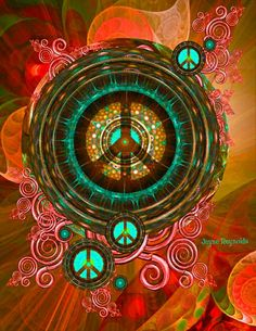 Peace Art - Love the colors. https://thehippieowl.com/