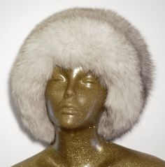 Wild Blue Fox Fur Winter Hat by TeddyGdesign on Etsy
